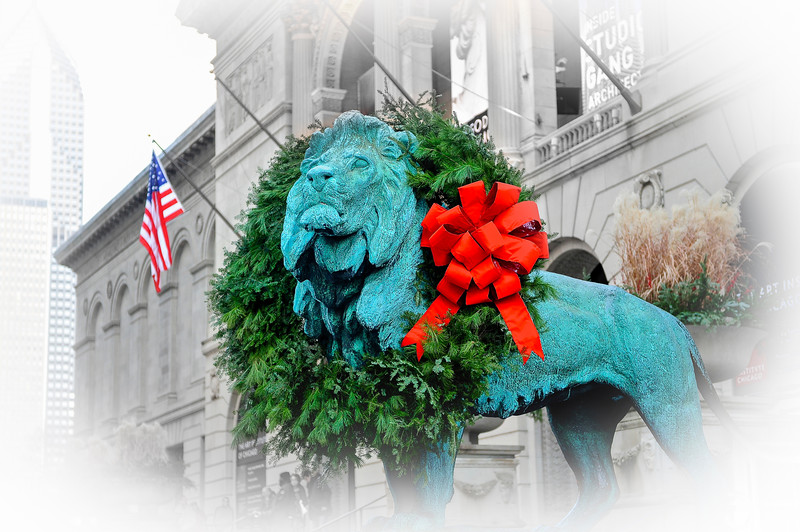 Holiday Lion at Art Institute - Vignette