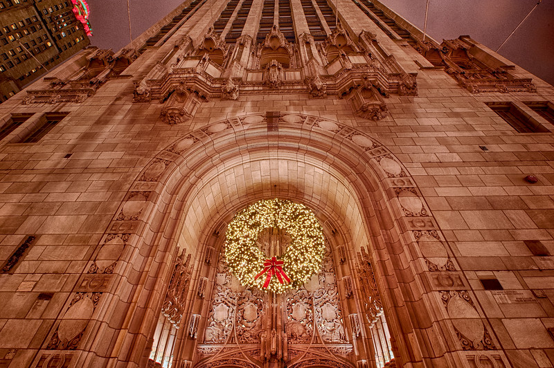 Trib Tower at Christmas - Wreath Only