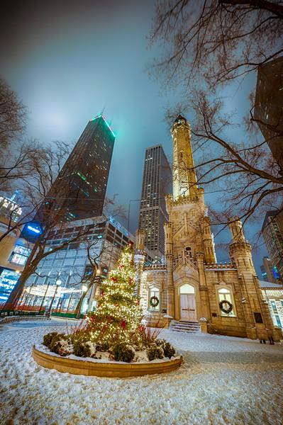 Water Tower & Christmas Tree