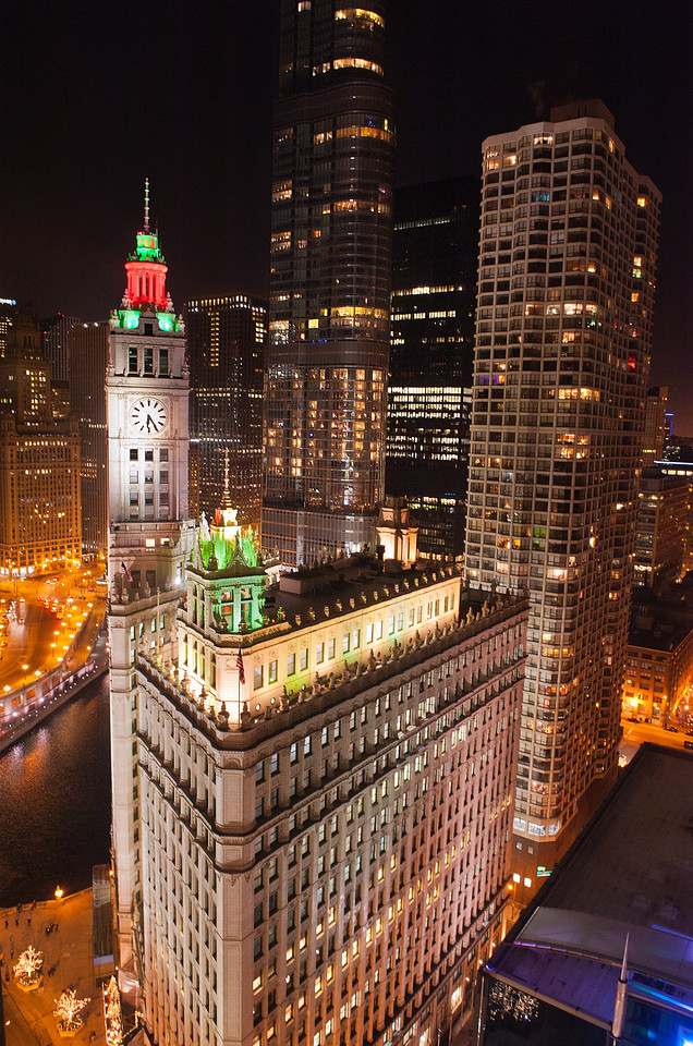 Wrigley Building at Holidays from Colonel McCormick's Office