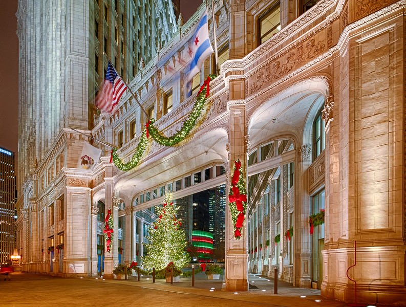 Wrigley Building at Christmas - Take 2