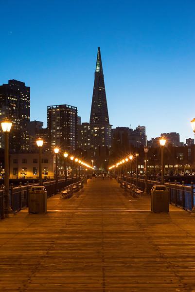 Pier 9 & Transamerica Bldg , San Francisco