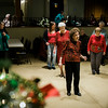 A crowd dances along to the music of the band Rhythm during a Christmas luncheon for seniors at the Knights of Columbus in Leominster on Wednesday, December 6, 2017. SENTINEL & ENTERPRISE / Ashley Green