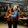 Virginia Salvi and Joe Brindisi, of Leominster, dance along to the music of the band Rhythm during a Christmas luncheon for seniors at the Knights of Columbus in Leominster on Wednesday, December 6, 2017. SENTINEL & ENTERPRISE / Ashley Green