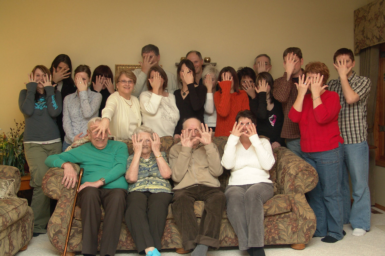 """Our """"silly"""" family picture."""