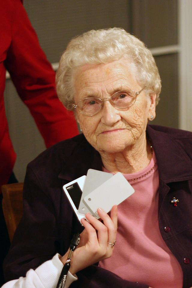 My Grandma with JPG colour balancing.