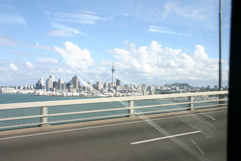 Auckland from the harbour Bridge