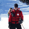 Chad on the hill ski-patroler