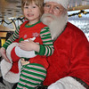Lincoln with Santa-he got a silver bell.