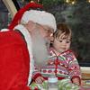 Olivia and Santa