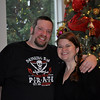 Rob, in his new pirate shirt, and I, Christmas Morning 2013.