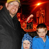 The Boys at the Nativity in the Grotto.