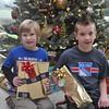 My boys ready for Christmas with Grandma Waker.