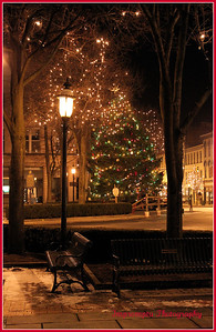 * December 15, 2011.The square in Chambersburg, PA. decorated for Christmas. Chambersburg was burned during the Civil War. All able bodied men were off fighting the war leaving only older men and women to fight the blaze. The town sustained considerable damage. I went to High School here.
