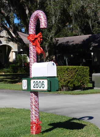 Laurel oak Christmas mail boxes