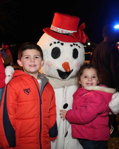Santa arrives in Lincoln Park 12-15-12