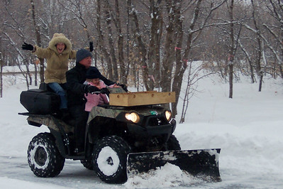 Snow Plowing Papa and Old Grandma's Driveway
