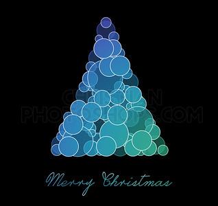 blue and purple christmas tree