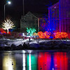 Christmas lights on the ice