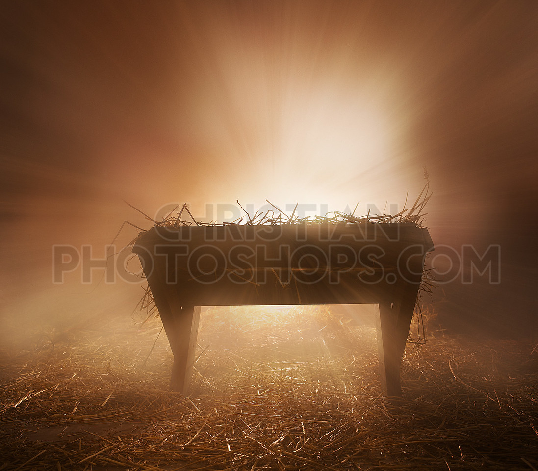 Bright lights with manger