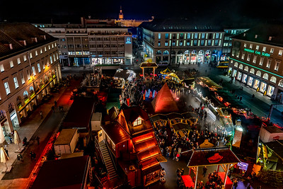 Christmas market from above