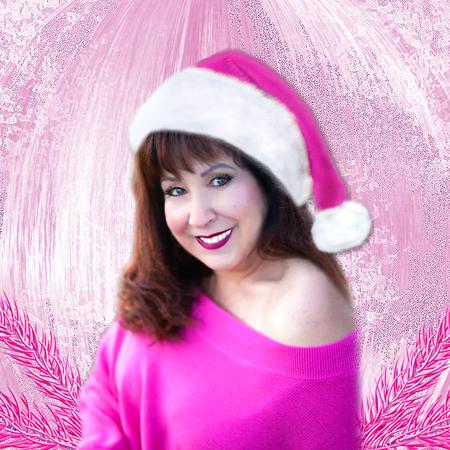 Cindi Pink Santa Hat Profile