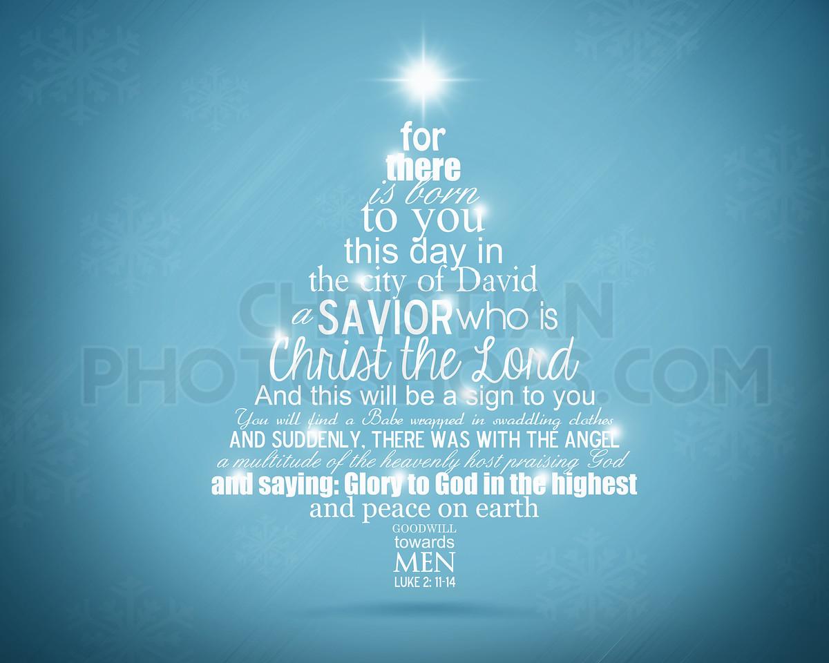 Bible christmas tree
