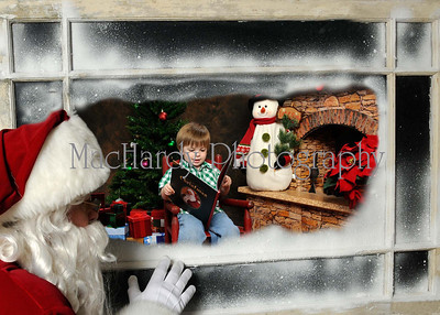 Santa in Window web