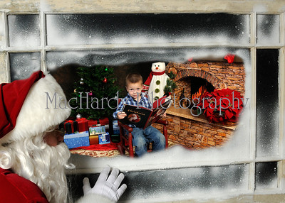 Santa in Window Jacob 5x7