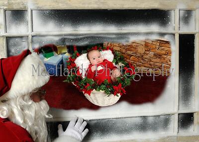 Santa in Window 5x7