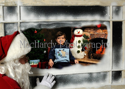 Santa in Window 5x7