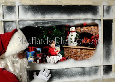 Santa in Window A 5x7