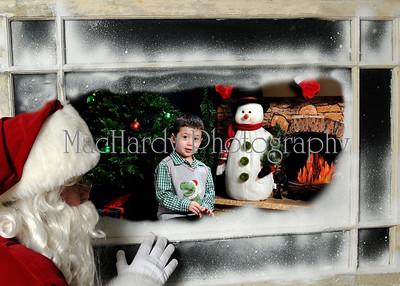 Santa in Window C 5x7