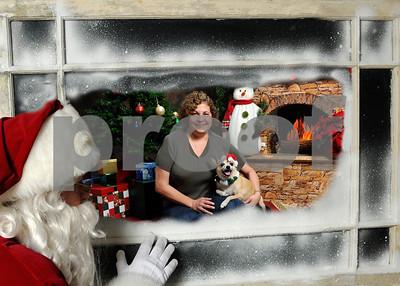 Santa in Window Paco