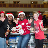 December 03, 2016 Rock Hill, SC Children and adults enjoy Cookies and Coco with Santa during Christmasville in Old Town.