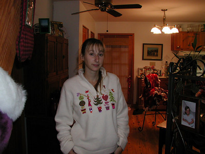 Kelly after Christmas morning with the kids.