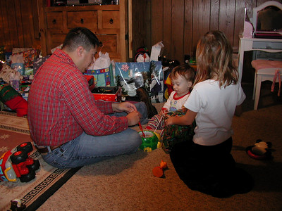 Michael playing with Summer and Tate.
