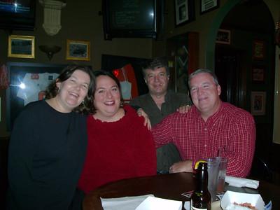 Portia, Lori, Gene & Burt at Rick's Bar.