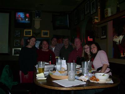 Portia, Lori, Michael, Gene, Burt, Kelly & Elisabeth at Rick's Bar.