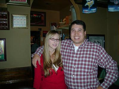 Kelly & Michael at Rick's Bar.