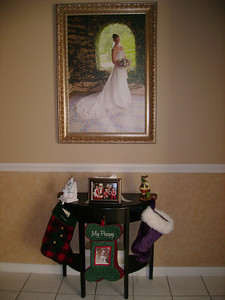 Kelly and Michael's stocking table.