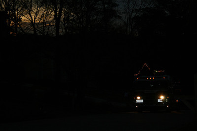 Santa coming through our neighborhood . . .