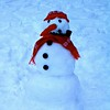 Snowman w/hat and scarf