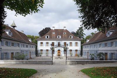 Sissach, Schloss Ebenrain, Hofseite, 1774–1776. Foto: Tom Bisig