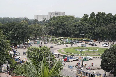Background: Louis I. Kahn, Parliament district, Dhaka