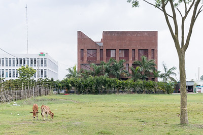 15 DIU LIBRARY BUILDING. Architect: Archeground Ltd. / Md. Jubair Hasan, Nabi Newaz Khan, Lutfullahil Majid | Location: Badda, Dhaka | Design: 2013 | Construction: 2013 – 2014