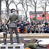 A large crowd in attendence at the Christos G. Rouses Memorial Ceremony at the JFK Plaza in Lowell. SUN/ David H. Brow