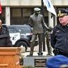 Lowell City Manager Eileen Donoghue giving her remarks at the Christos G. Rouses Memorial Ceremony, with Lowell Police Superintendent Raymond Kelly Richardson next to her. SUN/ David H. Brow