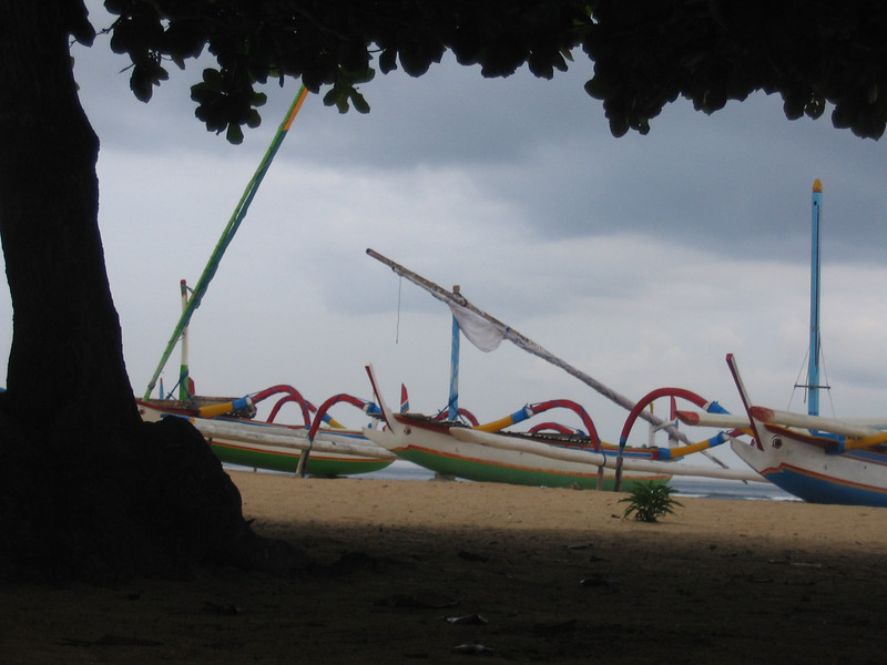 Fishing boats on the eastern coast of Bali