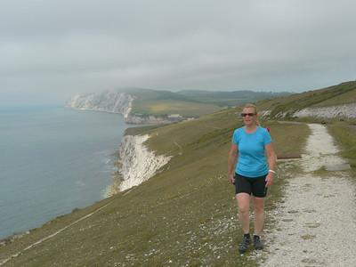 © RobAng 2011, Velotour GB (Dorset-Devon-Cornwall), Isle of White, Freshwater, Höhe 80 m